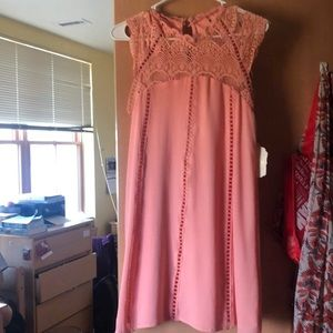 Altard State High neck Peach Dress